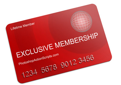 membership-card-photoshop-action