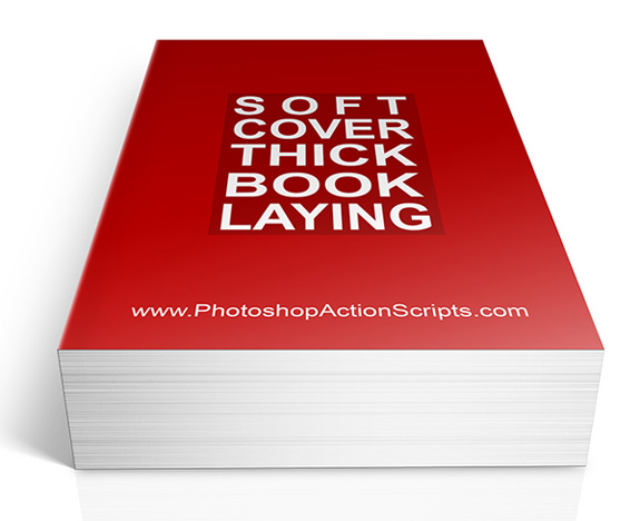Soft Cover Thick Book Laying
