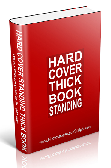 Thick Hard Cover Book Standing